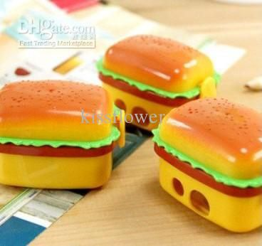 Wholesale Pencil Sharpeners - Buy New Double Holes Double Layer Simulation Hamburger Pencil Sharpener Cutters Pencil Sharpeners, $0.93 | DHgate