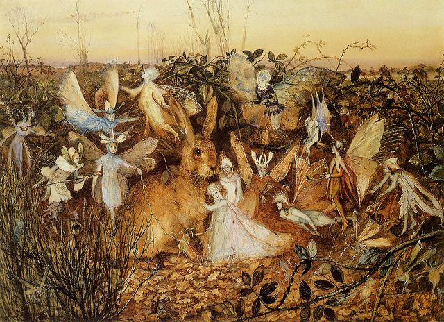 John Anster Christian Fitzgerald, 'Rabbit Among the Fairies' ca.1819-1906 | Flickr - Photo Sharing!