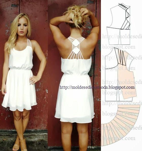 Plantillas de moda para medirla: Transformación DE VESTIDOS _82