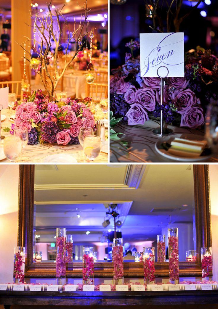 black white purple wedding reception%0A Weeding decor