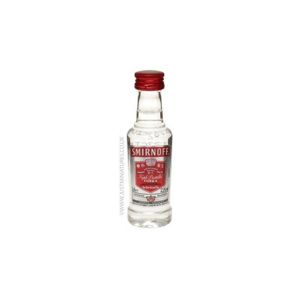 Smirnoff Red Label Vodka Miniature (23.935 IDR) ❤ liked on Polyvore featuring food