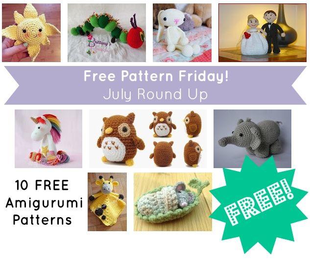 10 FREE Amigurumi Patterns #crochet #amigurumi #free #ravelry