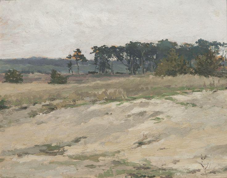Landscape from Stará Boleslav, cca 1890 | oil , carton, 28 × 35 cm