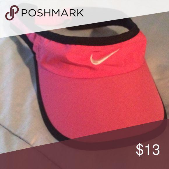 Nike visor Pink and black nike visor Nike Accessories Hats