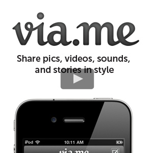 via.me - looks like a great site to share videos, and also sound bites, stories and photos