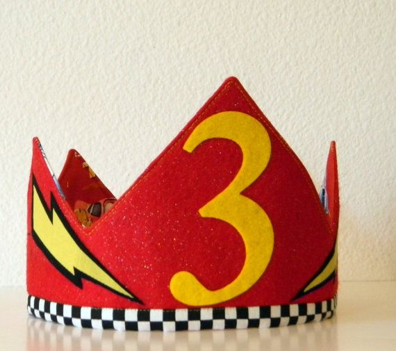 Lightning McQueen Birthday Crown by Bobotz on Etsy, $20.00