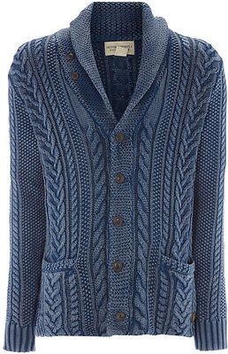 DENIM & SUPPLY RALPH LAUREN Cable Knit Shawl CARDIGAN Sweater SCOTT DISICK NEW M