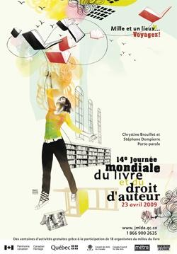 Día internacional del livro y los derechos de autor, Canadá, 2009.