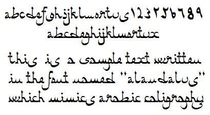 Alandalus Arabic Simulation Font By Juan Jos Marcos