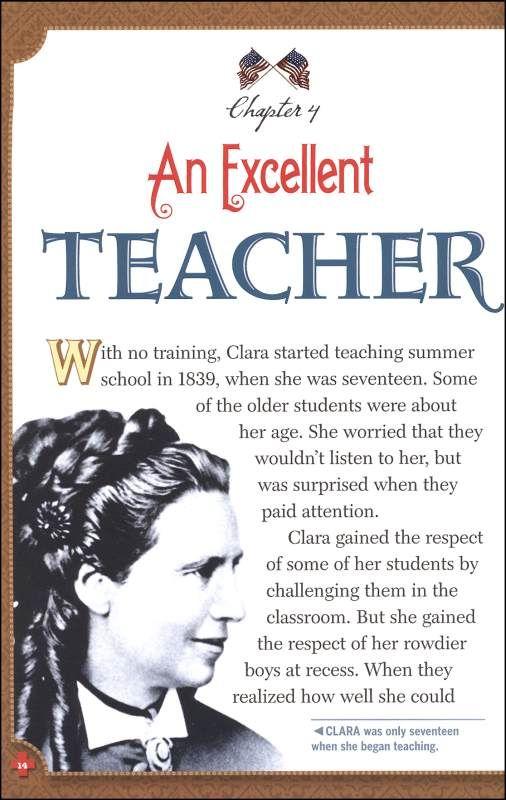 Clara Barton Timeline   Clara Barton: Angel of the Battlefield ...