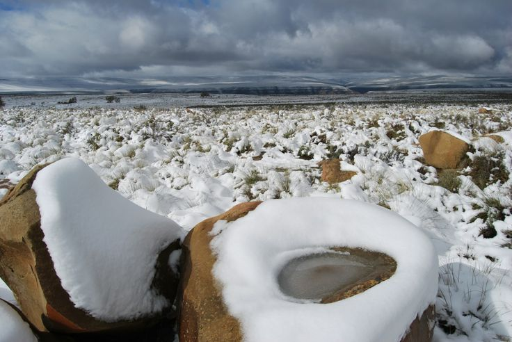 The other side of the Tankwa Karoo: Snow in the Tankwa Karoo National Park - Photograph by Conrad Strauss.