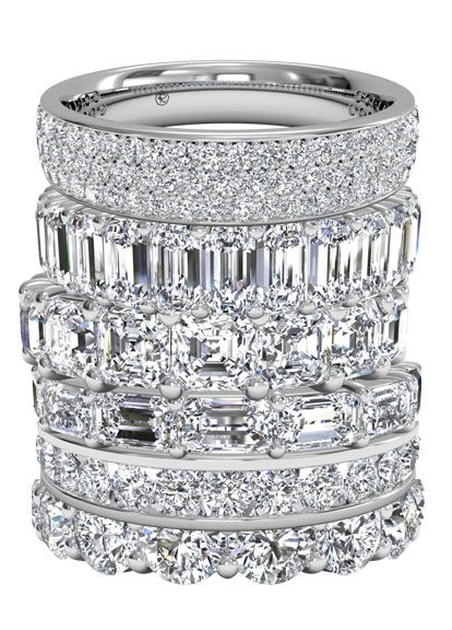 So excited to add to my wedding rings sometime in the future! Eternity. Ritani Diamond Wedding Bands.