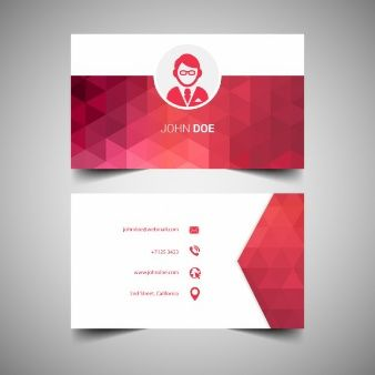 Red Elegant Business Cards Template