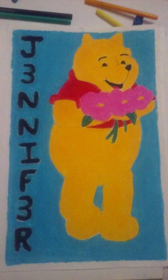 winnie pooh (Tizas de colores)