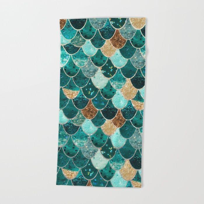 REALLY MERMAID  Bath / Beach Towel by Monika Strigel | Society6