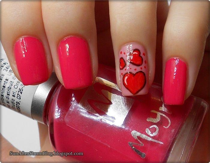 Valentine ~ Sun after Storm #nail #nails #nailart