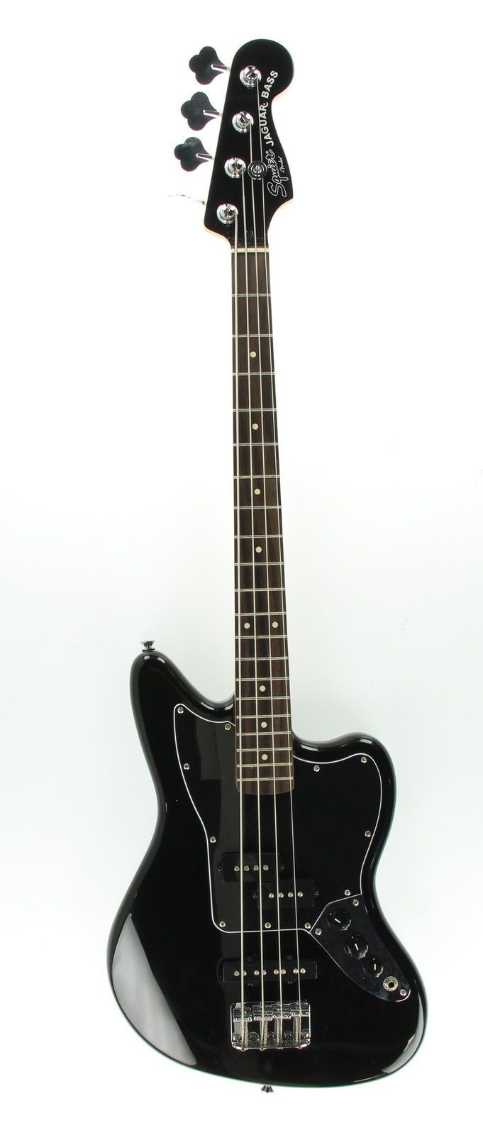 FENDER Squier Jaguar Bass Black 4 String Hardwood Electric Guitar