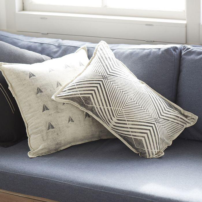 Pony Rider — Lil Architect Cushion | geometric Cushions | rectangle cushion | monochrome cushion