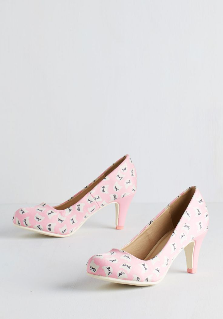 Are You Kitten Me? Heel in Pink, @ModCloth