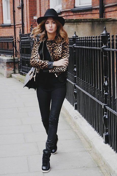 Style Diary Millie Mackintosh  JACKET – RARE  JEANS – KOOPLES  TOP – NONOO  TRAINERS – ASH  HAT – TOPSHOP  BAG – DUNE