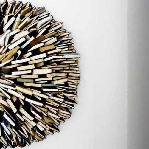 love this art installation of books