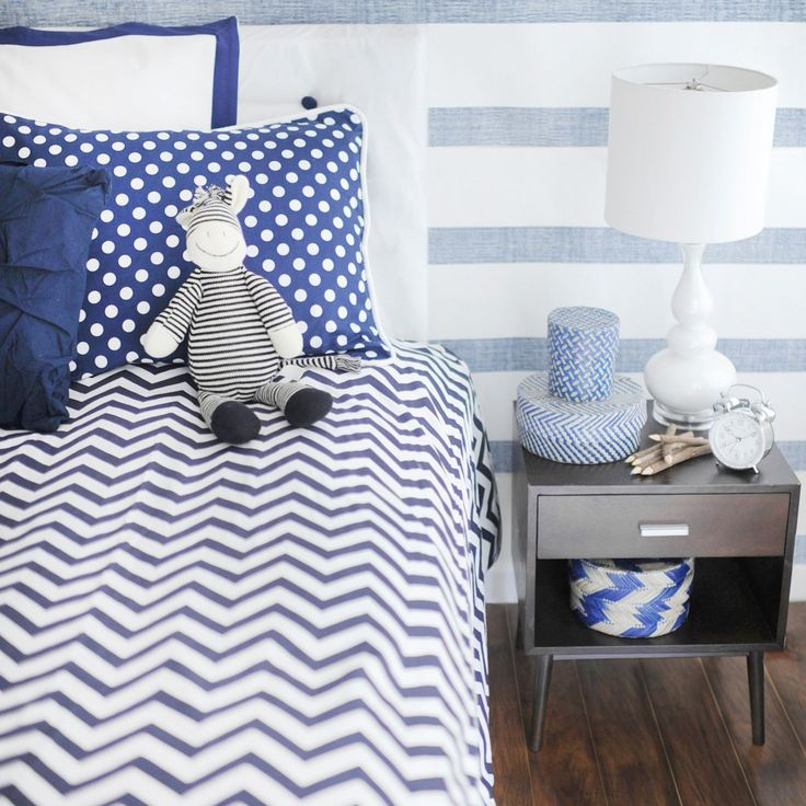New Arrivals Bedding Set Navy Chevron #laylagrayce