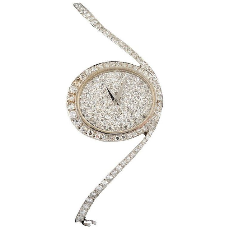 Chopard White Gold and Diamonds Watch | From a unique collection of vintage wrist watches at https://www.1stdibs.com/jewelry/watches/wrist-watches/ #WhiteGoldJewellery