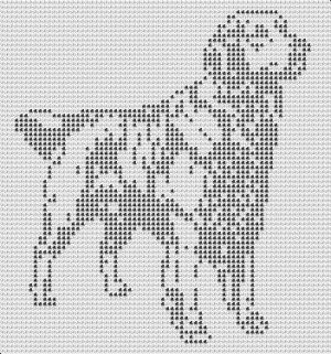 FULL GOLDEN RETRIEVER CROCHET AFGHAN PATTERN COPYRIGHT TINA GIBBONS