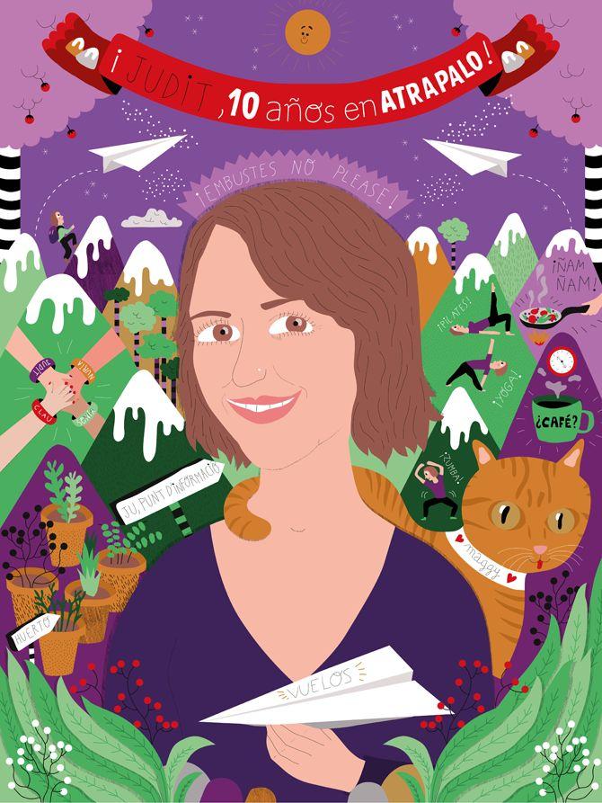 Atrapalo Portraits - Caroline Selmes ◆ Illustration