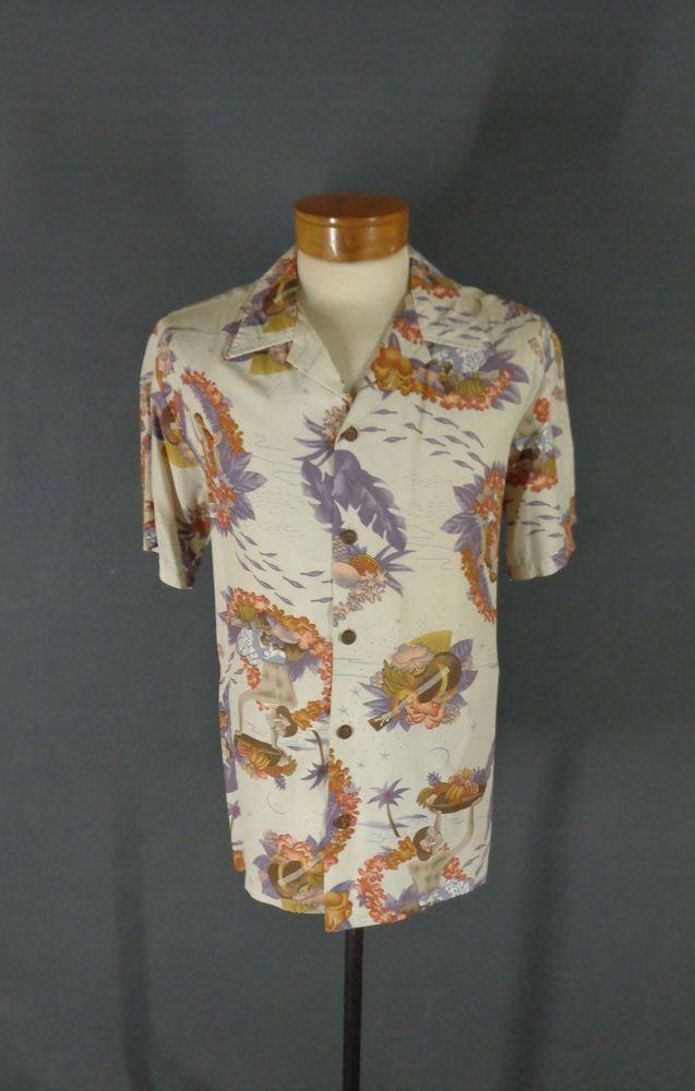 cdc36e852 Rare Vintage Surfrider 100% Rayon Hula Islander Girl Hawaiian Aloha Shirt  Medium  Surfrider  Hawaiian  Doyoureallyneedone