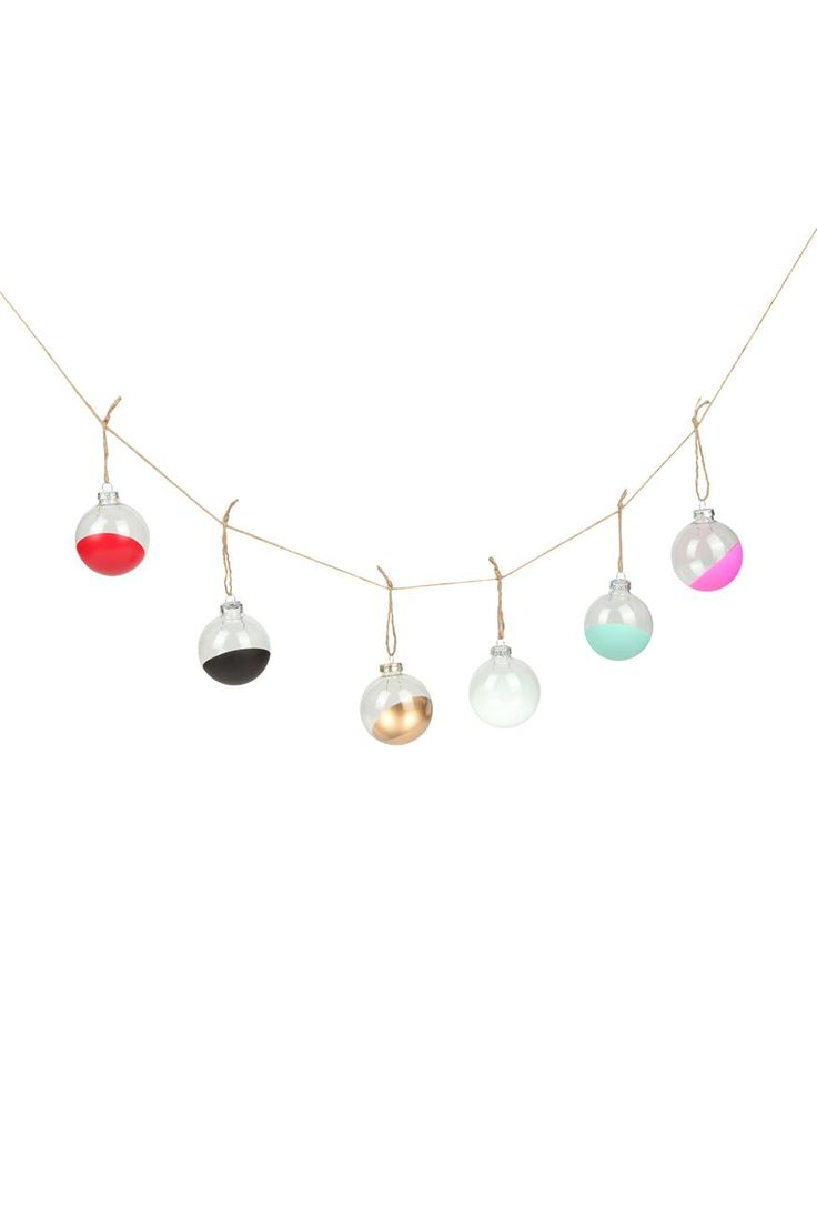 dipped glass bauble pack - DIY this