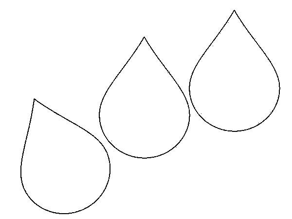 raindrops coloring pages for toddlers - photo#4