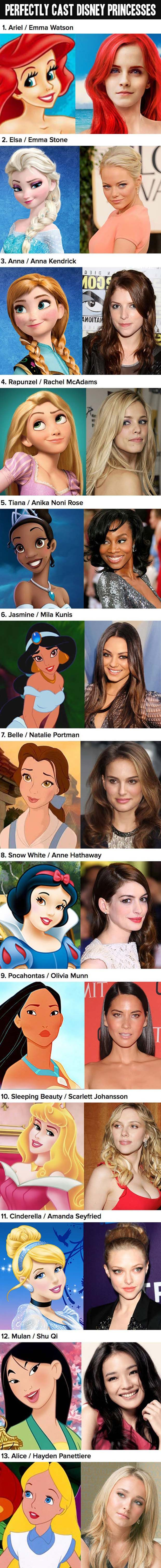 I wish they would start remaking these, using real people.  That would be amazing!   Love these choices for Princesses.  =)
