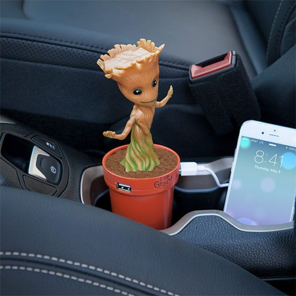 Baby Groot USB Car Charger Dances With Your Phone