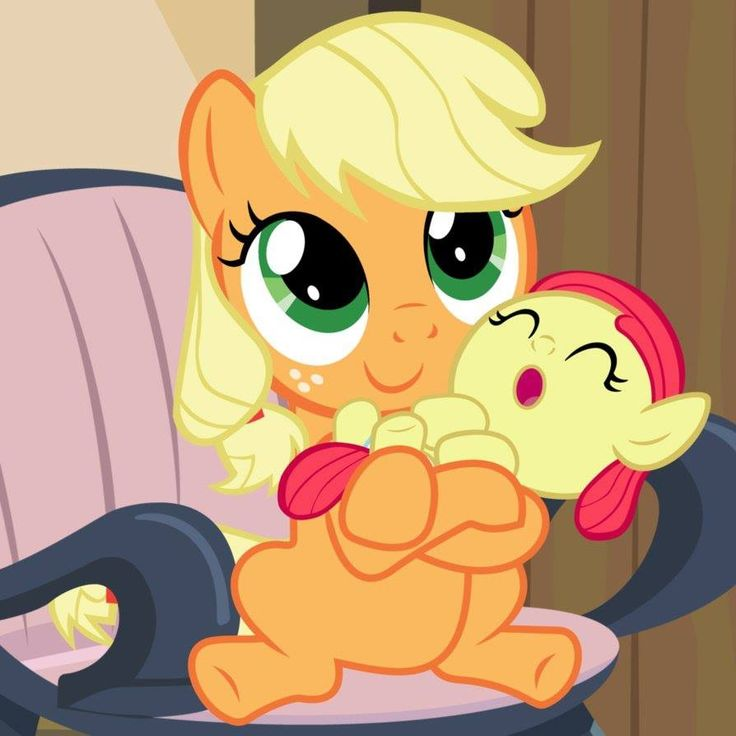 My little pony friendship is magic: Applejack and baby Apple bloom