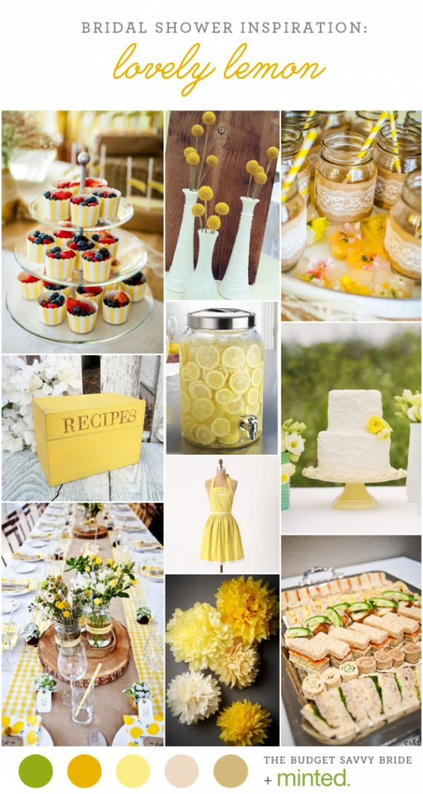 Yellow Bridal Shower Inspiration and party decor ideas