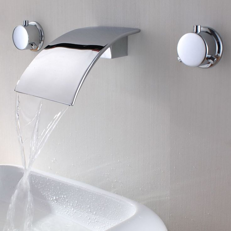 Milly Waterfall Wall Mounted Bathroom Faucet