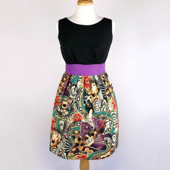 Empire Waist Japanese Zen Tattoo Dress / by VintageGaleria on Etsy, $69.95