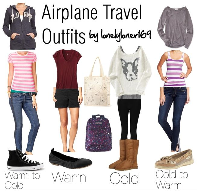 airplane travel outfits by me