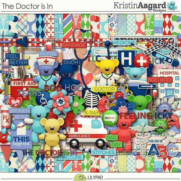 The Doctor is In - Digital Scrapbooking Kit by Kristin Aagard Designs