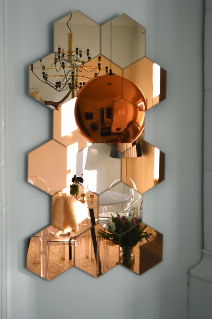 Interior Inspo From Petra Tungårdens Home. #interior #design #copper  #mirror
