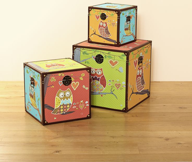 Vintage Owl Storage Chests from #30-$50 from The Reject Shop