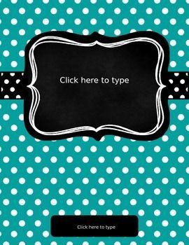 Free Editable Binder Covers - Beautify Your Binders!!