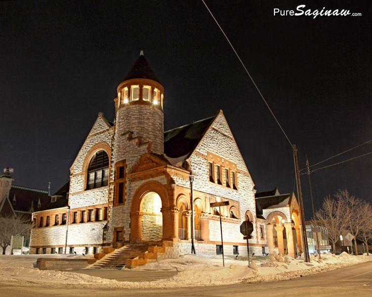 Hoyt Public Library in Saginaw, Michigan, photo by PureSaginaw.com