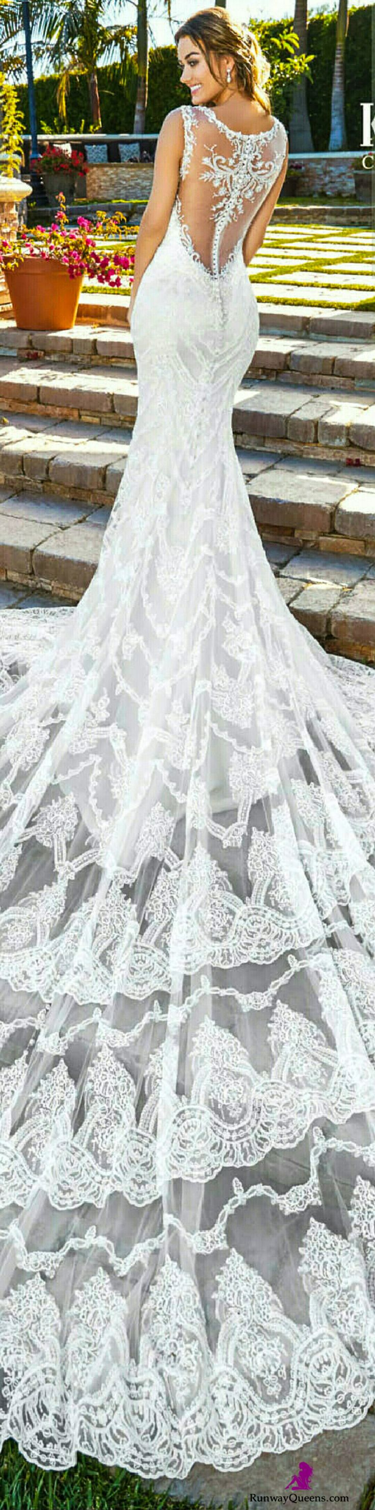 Kitty Chen Couture, Bridal 2017, train, white