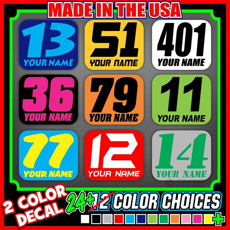 Motorcycle Number Plate Mini Decals Flat Track Racing Pro