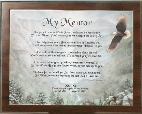 Eagle Scout Mentor Poem