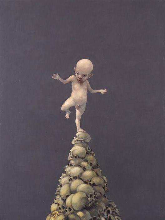 The Act - Michael Kvium, 160x120cm, 2009.