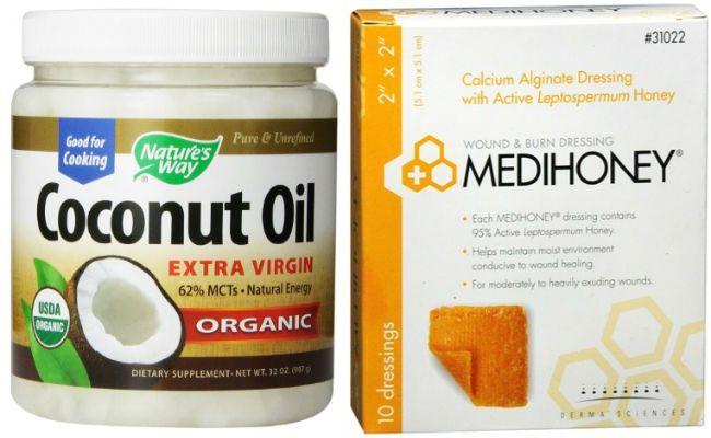 coconut oil and raw honey medihoney 650x400