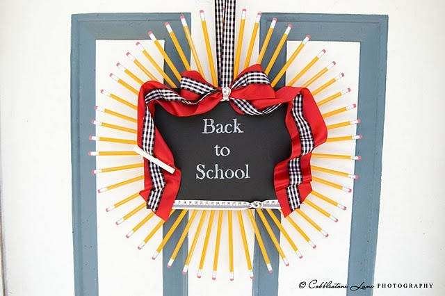 back to school wreath tutorial